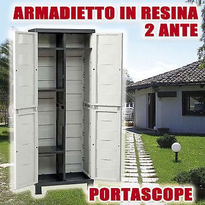 ARMADIO-RESINA-65X37-H85-2-ANTE-TUTTOPIANI-BASSO-VERDE-INTERNO-ESTERNO