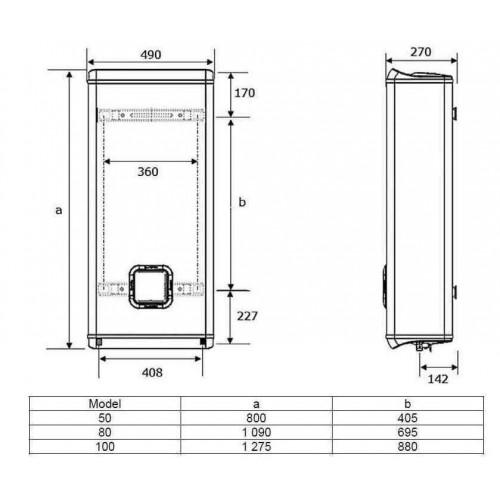 ariston scaldabagno scalda acqua 50 litri boiler sottile. Black Bedroom Furniture Sets. Home Design Ideas