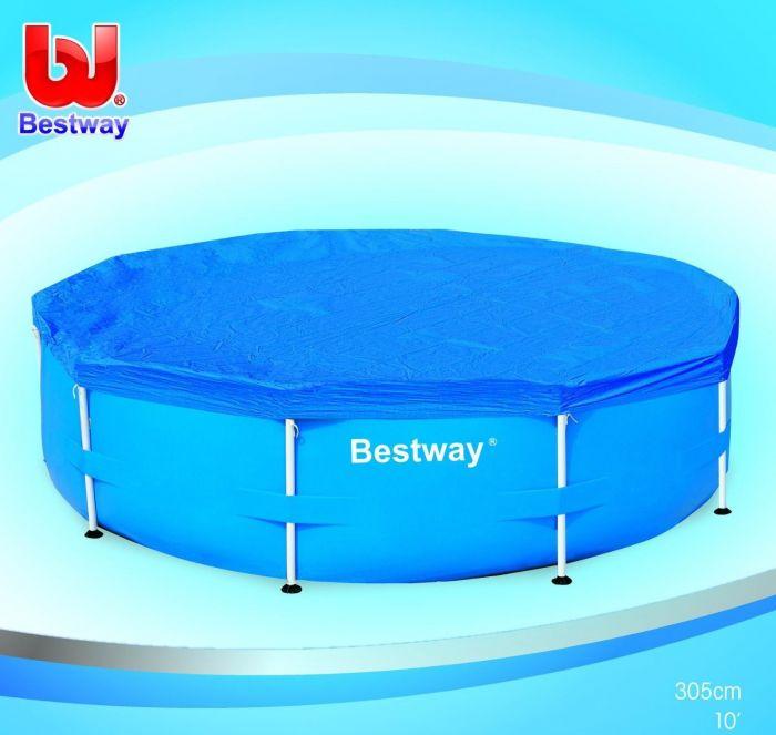Bestway Telo Copertura Piscina Tonda diametro 305cm con Telaio rigida 58036  eBay