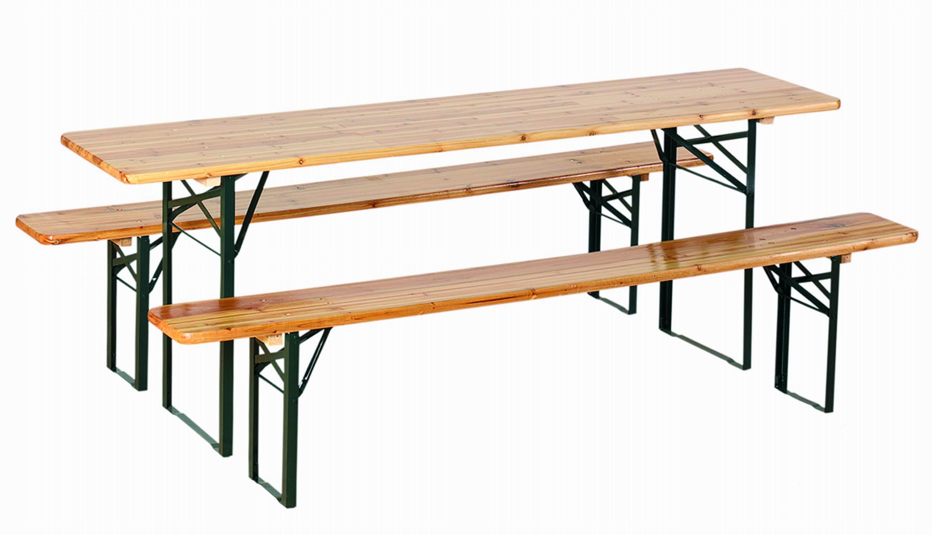 Set birreria in legno tavolo 2 panche 220x70xh80cm richiudibile esterno giardino  eBay