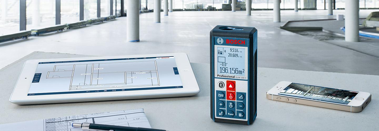 Bosch Misuratore laser Telemetro Bluetooth distanziometro 100mt Mod. GLM100C  eBay