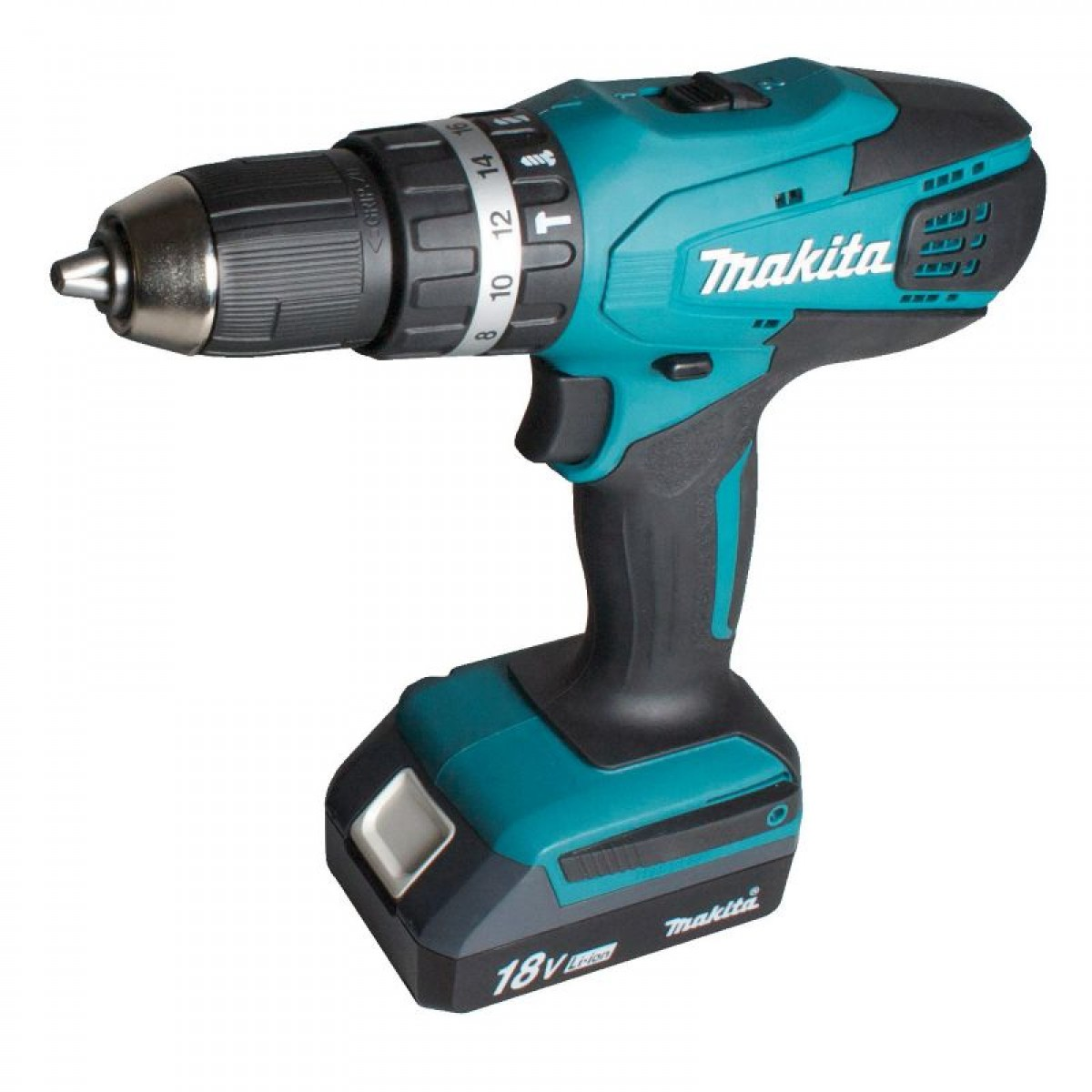makita percussion drill screwdriver 18v 2 1 3 ah batteries. Black Bedroom Furniture Sets. Home Design Ideas