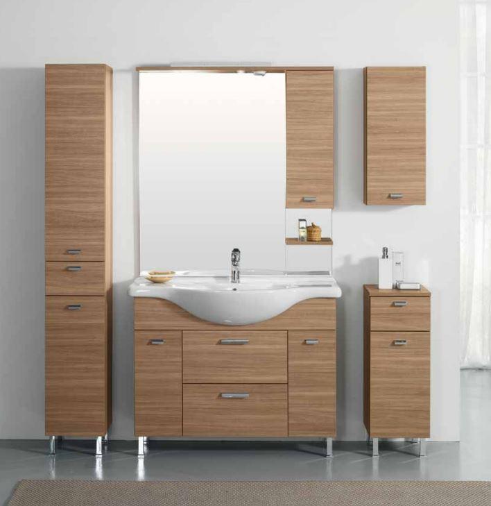 Mobile Bagno completo con specchio e lavabo Olmo vetro arredo moderno Rimini18  eBay