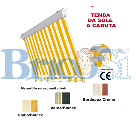 TENDA TENDE DA SOLE BALCONE CADUTA MISURE BAR RISTORANTI CASA ROSSO ...