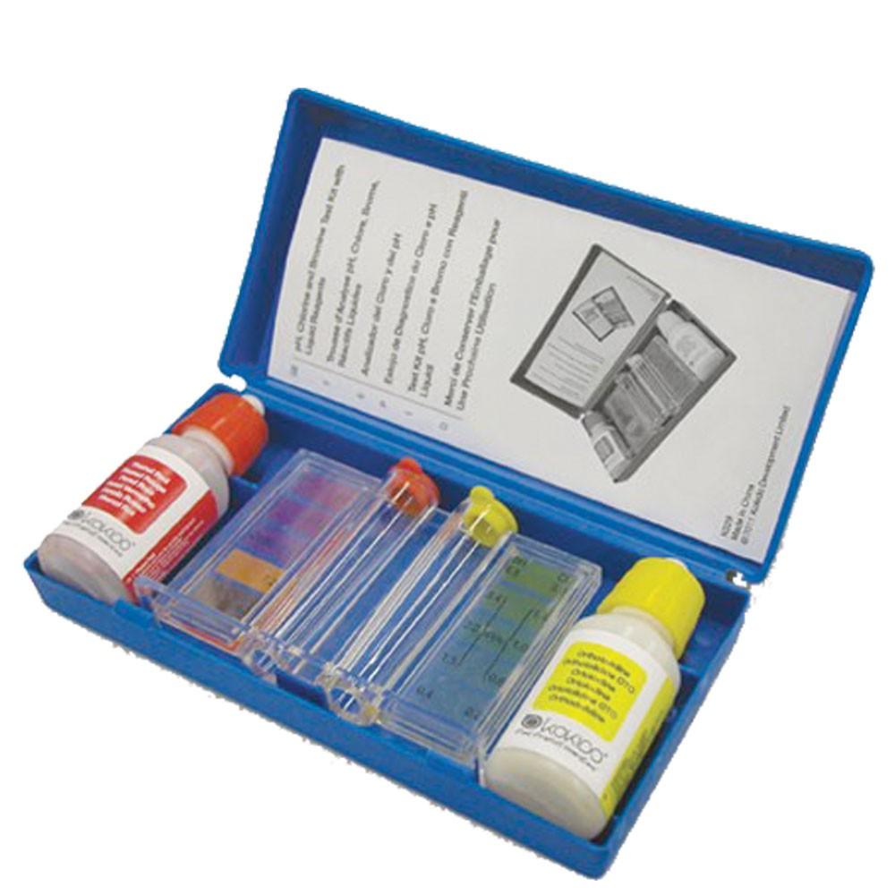 Test manuale cloro ph piscina analisi livelli acqua for Cloro liquido per piscine