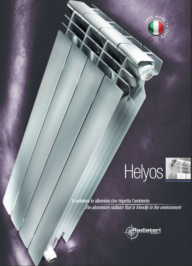 Termosifone elemento riscaldatore radiatore in alluminio helios ...