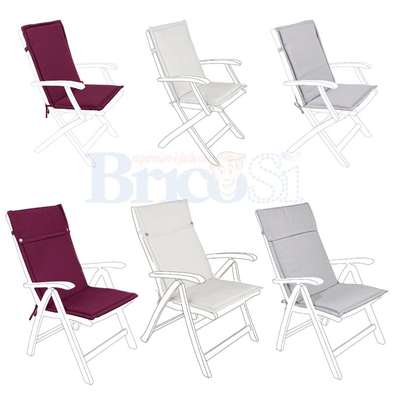 Dettagli su Cuscino per poltrona sedia sdraio in legno giardino idrorepellente sfoderabile