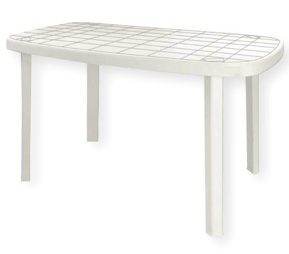 Tavoli Di Plastica Da Giardino.Tavolo In Plastica Da Giardino 140x85 Colore Bianco Modello Otello