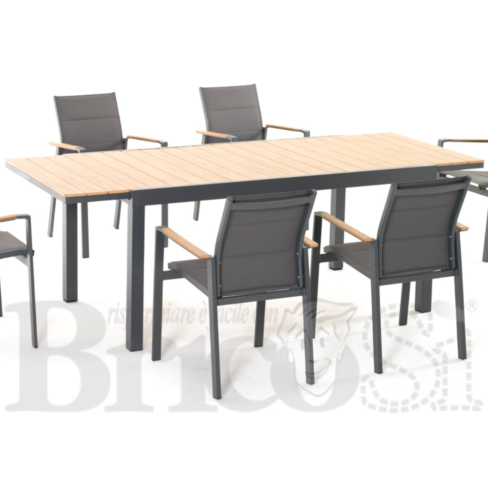 Tavolo Per Esterno Allungabile.Tavolo Alluminio Allungabile 164 225x90 Da Esterno Giardino