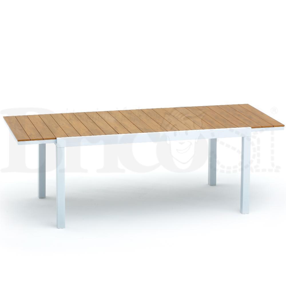 Tavolo Alluminio Allungabile 164 225x90 Da Esterno Giardino Bianco Beverly Ebay