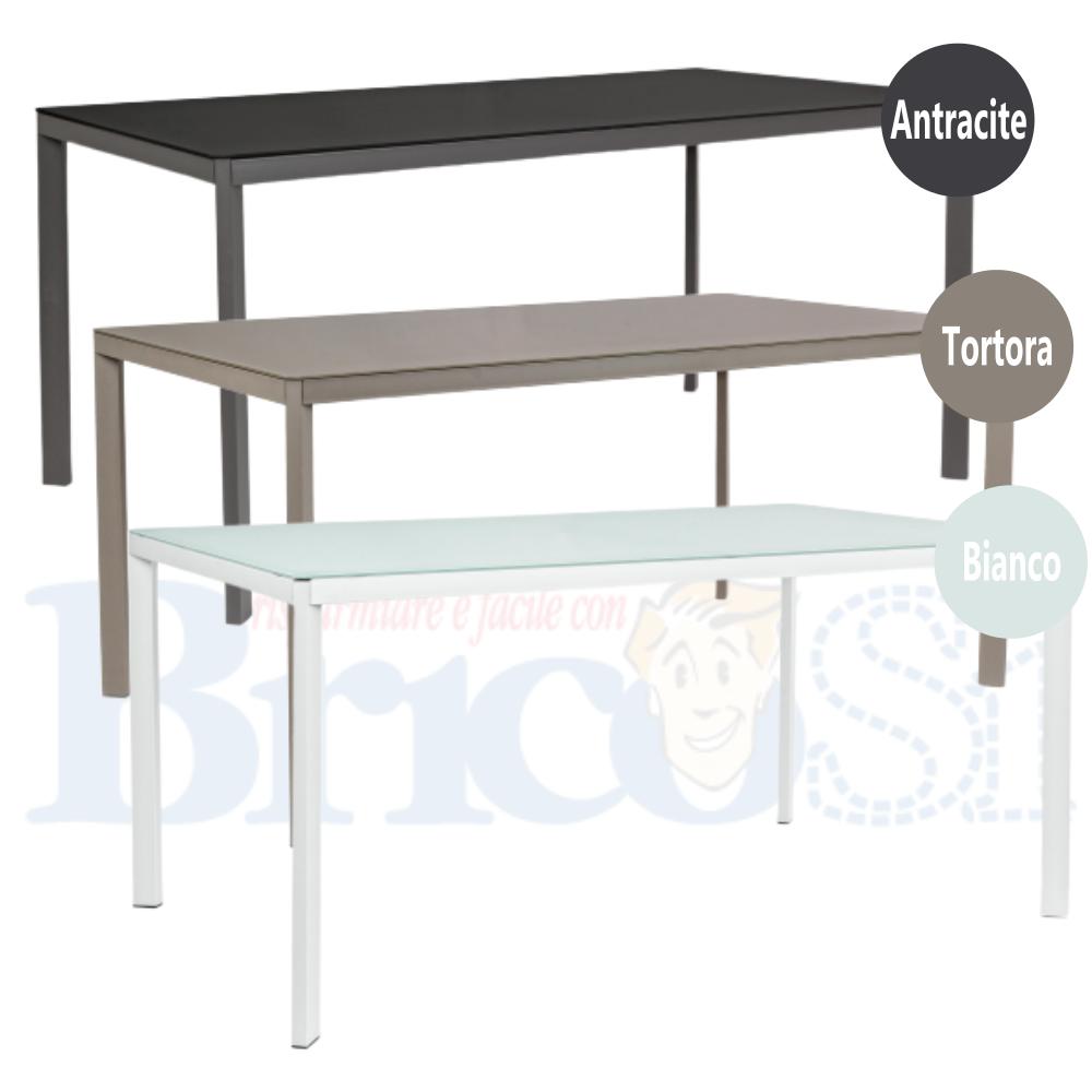 Tavolo Rettangolare da Giardino esterno in Alluminio e ...