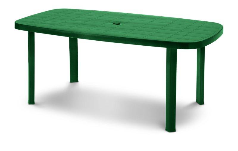 Tavolo Plastica Giardino Prezzo.Tavolo In Plastica Da Giardino Verde Tavolino Esterno Resina Ovale