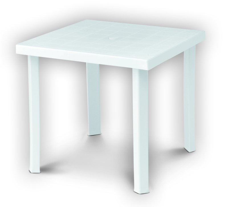 Tavoli Di Plastica Per Esterno.Tavolo In Plastica Resina Da Esterno Giardino 80x80h72cm Gambe
