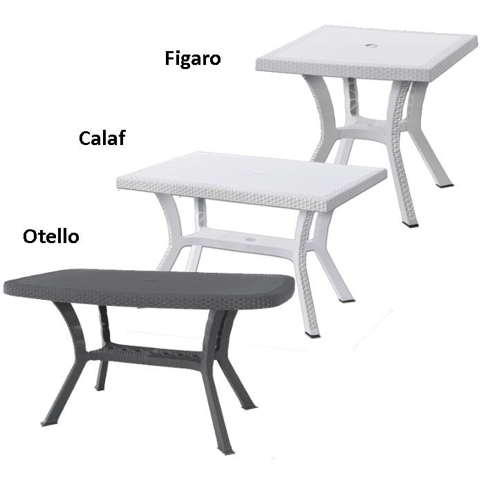 Tavolo Plastica Effetto Rattan.Tavolo In Plastica Da Giardino Tavoli Rattan Tavolino Resina