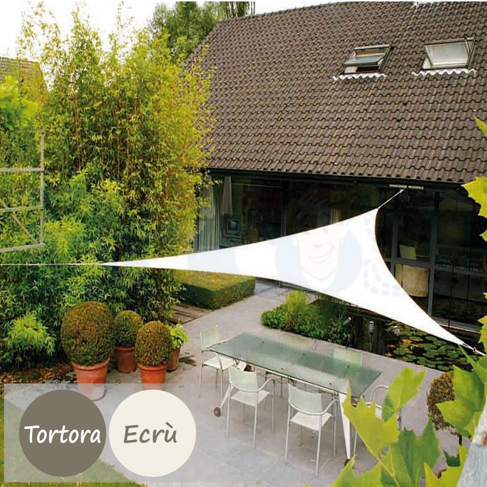 Vela Triangolare Da Giardino dettagli su tenda a vela parasole ombreggiante sole telo ombra triangolare  da giardino 230g