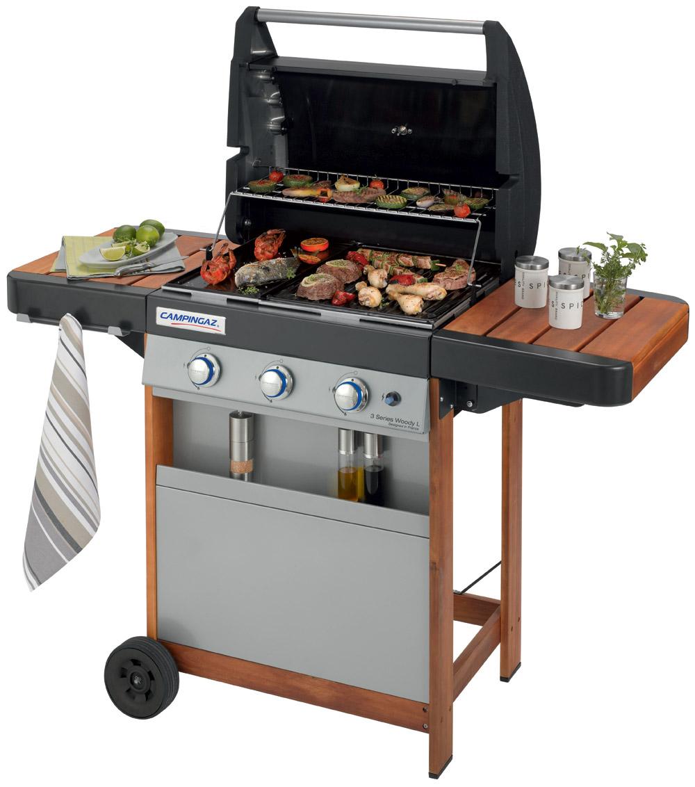 Campingaz bbq barbecue a gas series 3 l woody giardino for Giardino balcone