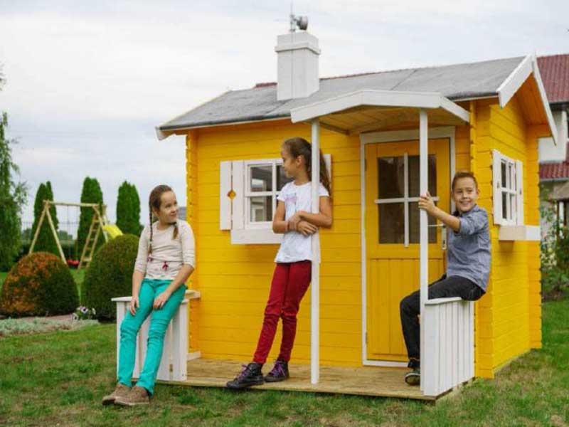 Casa casetta legno colorata box gioco bimbi bambini for Casetta giardino bimbi usata