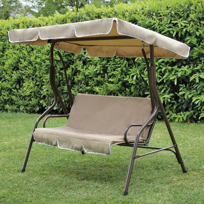 Dondolo in acciaio marrone 2 posti 170x115xh152 giardino esterno sorrento ebay - Dondolo da giardino 2 posti ...
