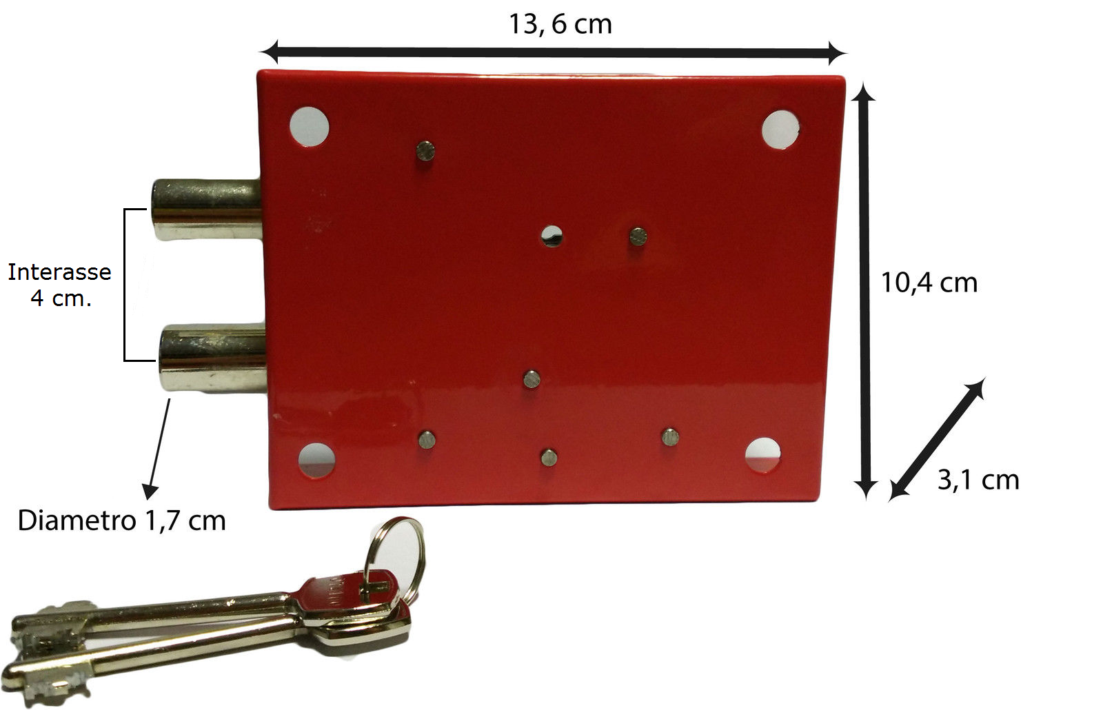 serratura di ricambio per cassaforte a muro universale