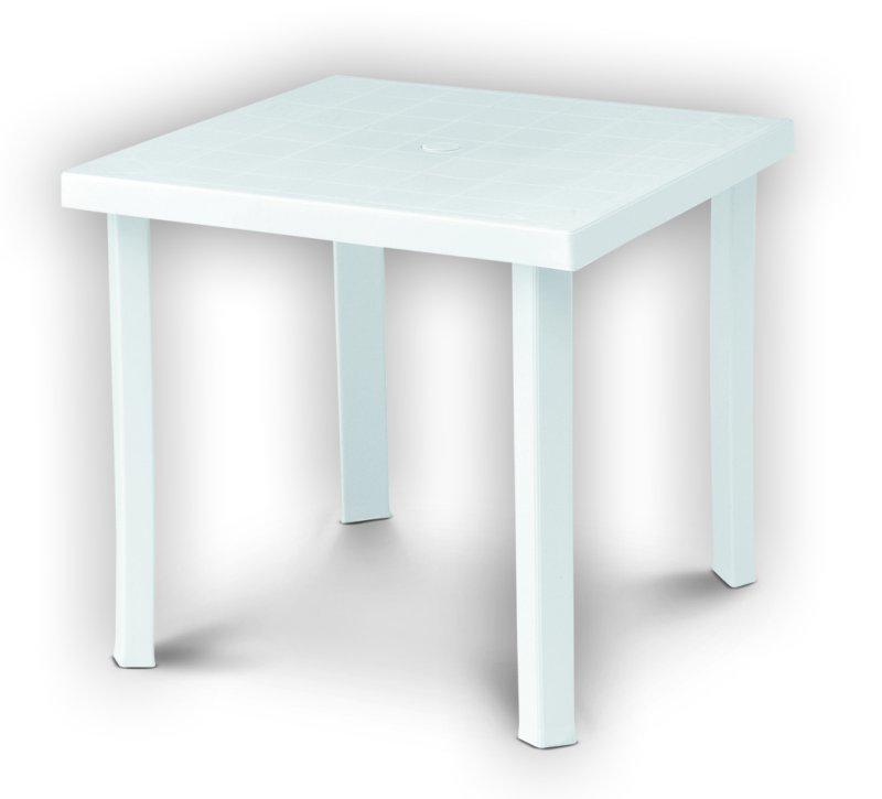 Tavolo plastica giardino 80x80 h72cm gambe smontabili arredamento figaro bianco ebay - Tavolo da giardino in plastica ...