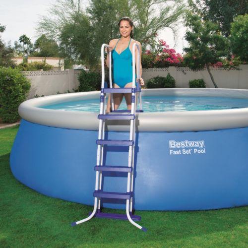 Bestway scaletta piscina piscine fuori terra 132cm 4 gradini giardino 58332 ebay - Piscina fuori terra in giardino ...