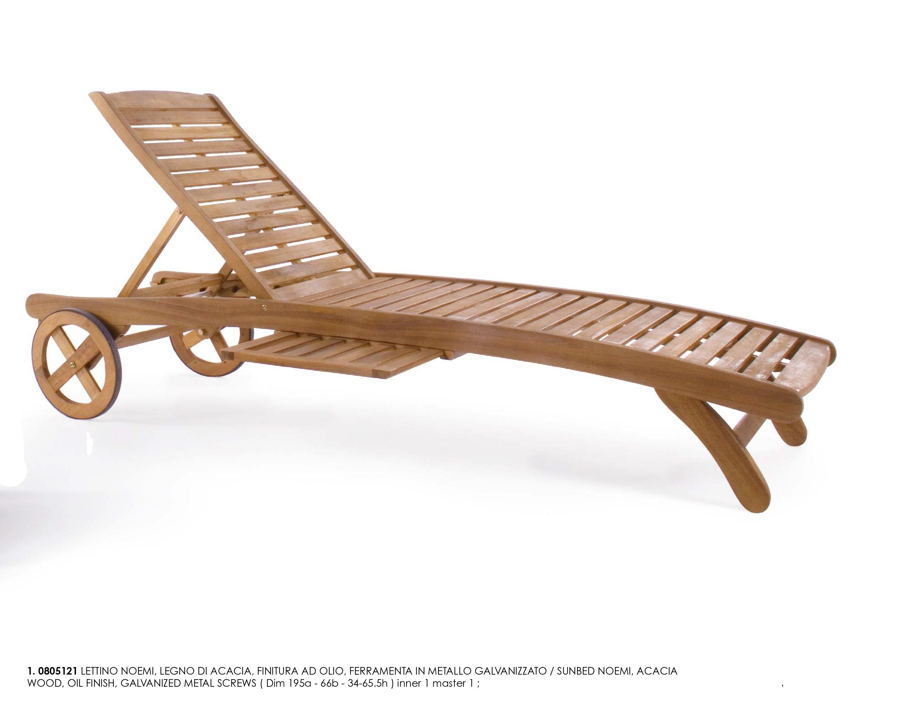 Bizzotto lettino noemi regolabile giardino spiaggia legno - Lettino giardino ...