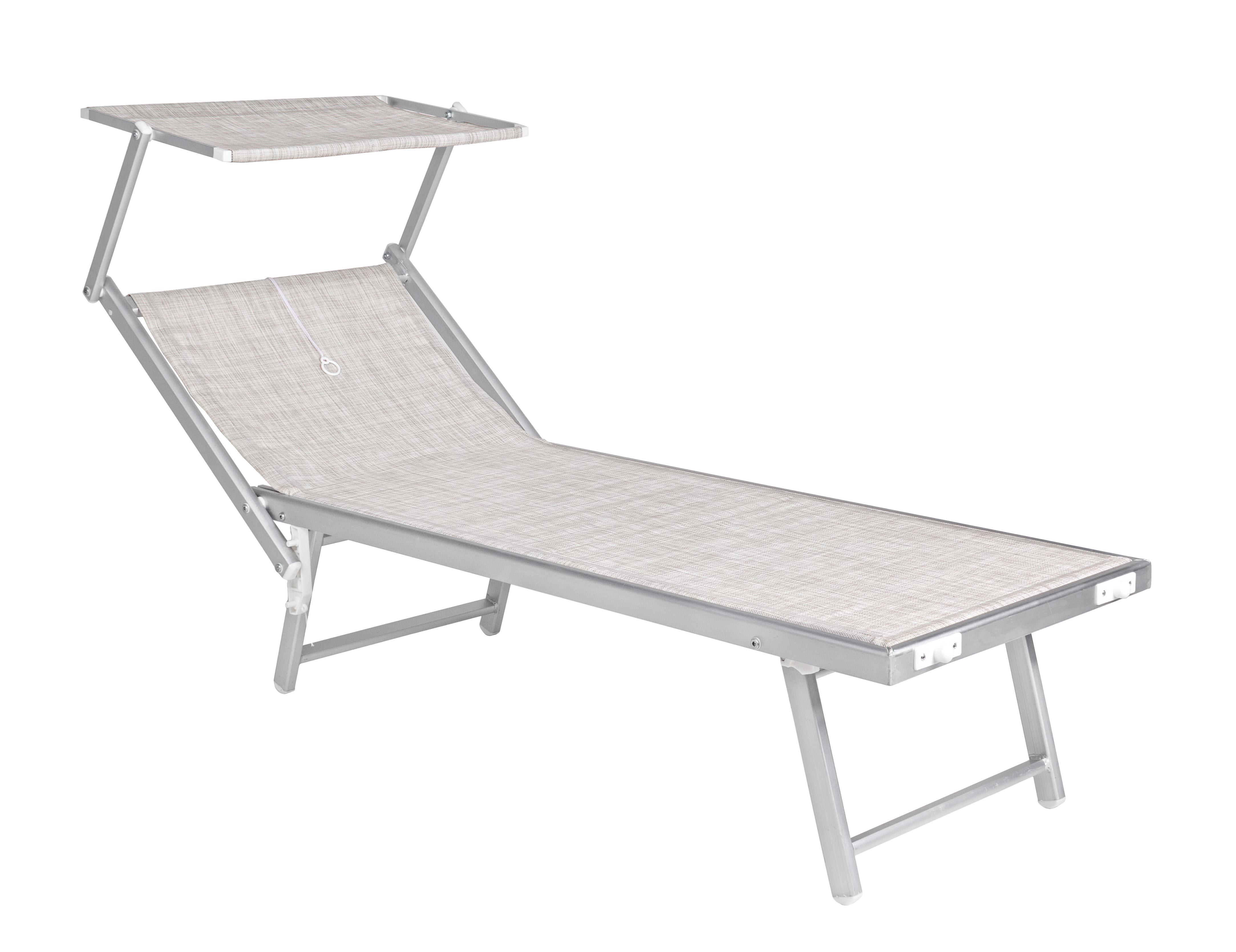 Lettino mare alluminio colore inox ocean grigio mare - Lettino piscina alluminio ...