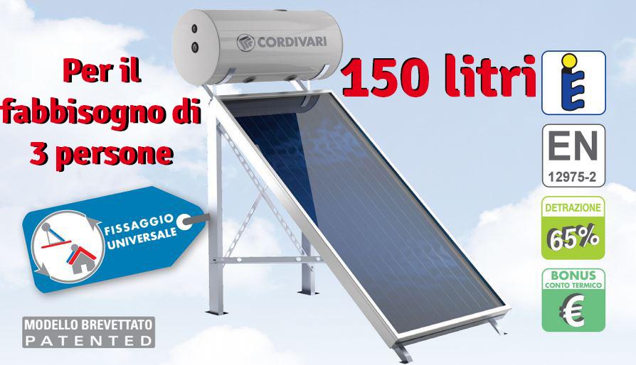 Pannello Solare Boiler Integrato : Panarea scaldabagno termico solare pannello serbatoio