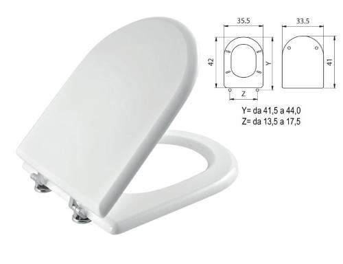 Sedile Copriwater Wc In Legno Mdf Bianco Per Ideal Standard Mod Esedra