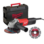 MILWAUKEE SET KIT SMERIGLIATRICE MOLA + DISCO DIAMANTATO + VALIGETTA AG800