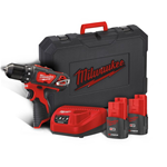 TRAPANO AVVITATORE 2 BATTERIE 1,5AH LITIO 12V MILWAUKEE M12 BDD-153C IN VALIGETTA