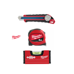 Milwaukee Kit Flessometro 5mt + Cutter 18mm + Mini Livella 10cm 4932471129